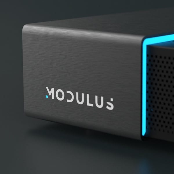 Close up of the Modulus Media Systems M1 device
