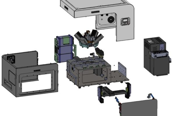 Exploded view of the IXRF Systems Atlas M spectrometer