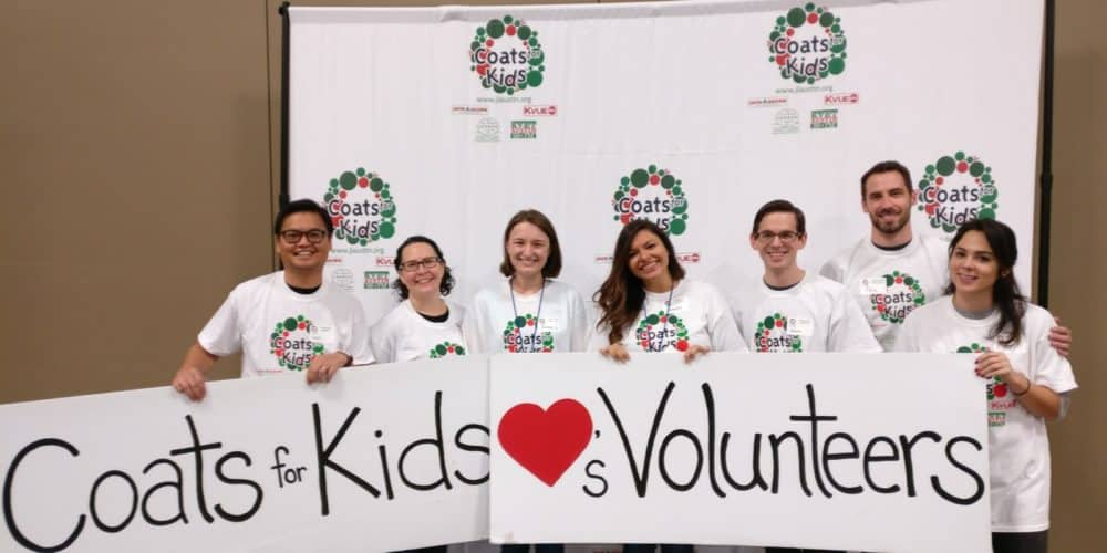 Produktworks team volunteering at Coats for Kids