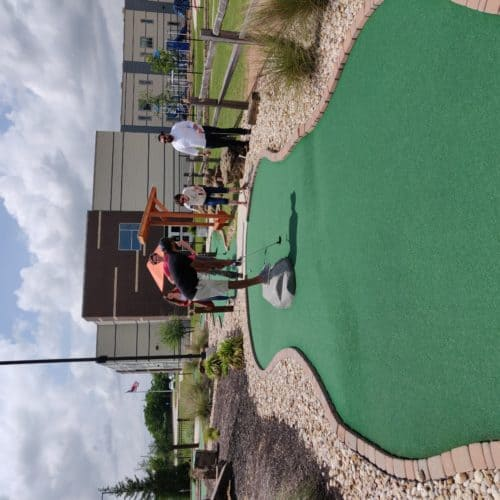 Produktworks team at putt putt golf