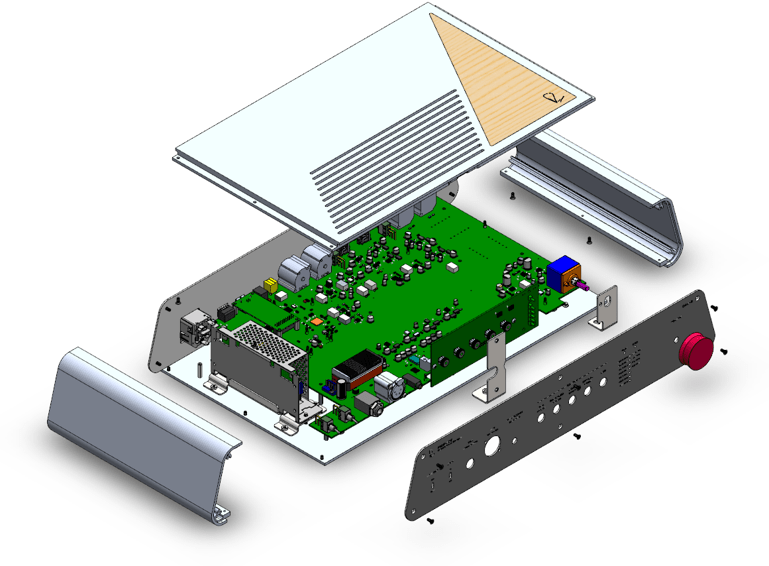 Rupert Neve Designs Fedelice DAC exploded view