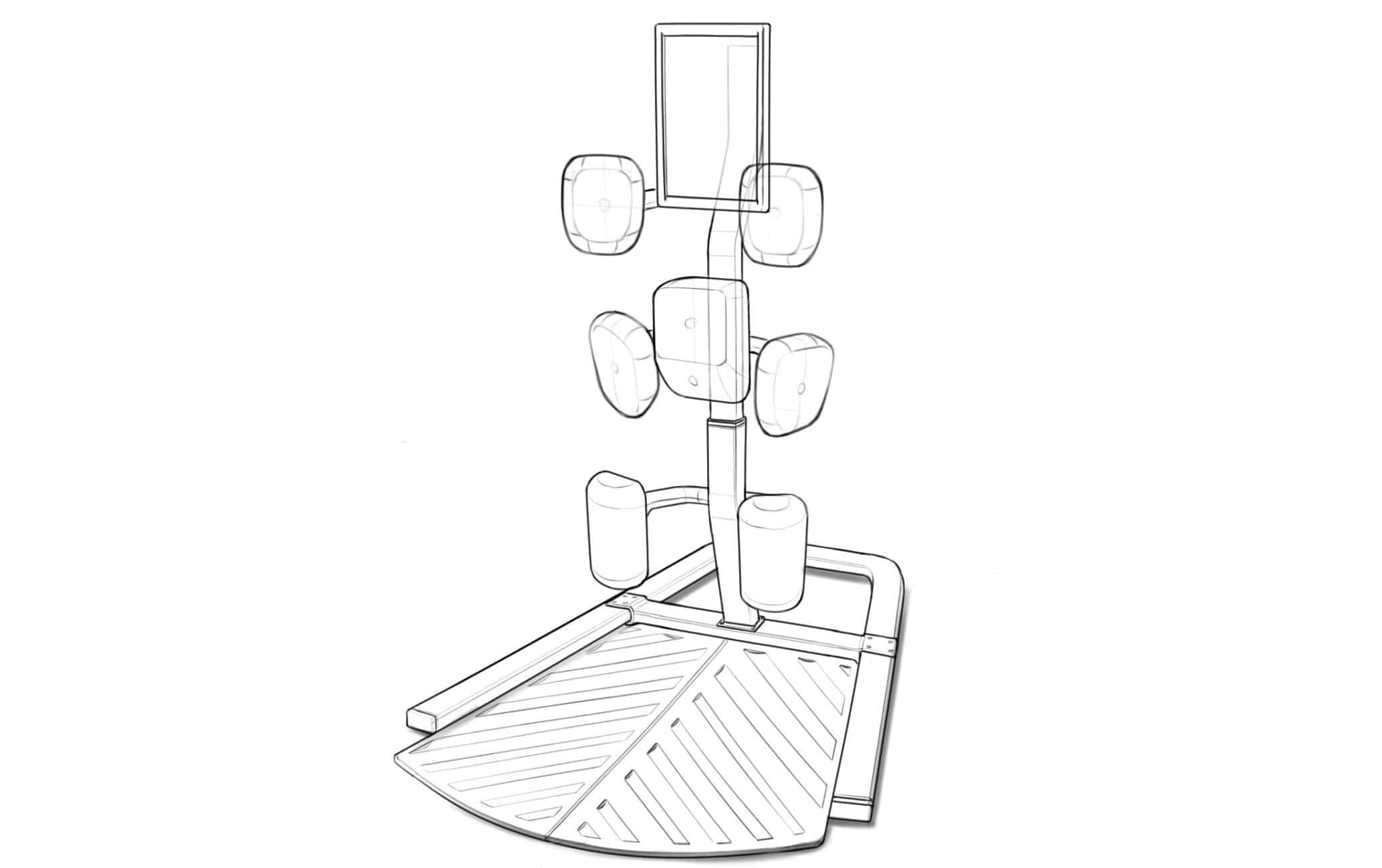 Industrial design sketches of the Nexersys N3 Elite
