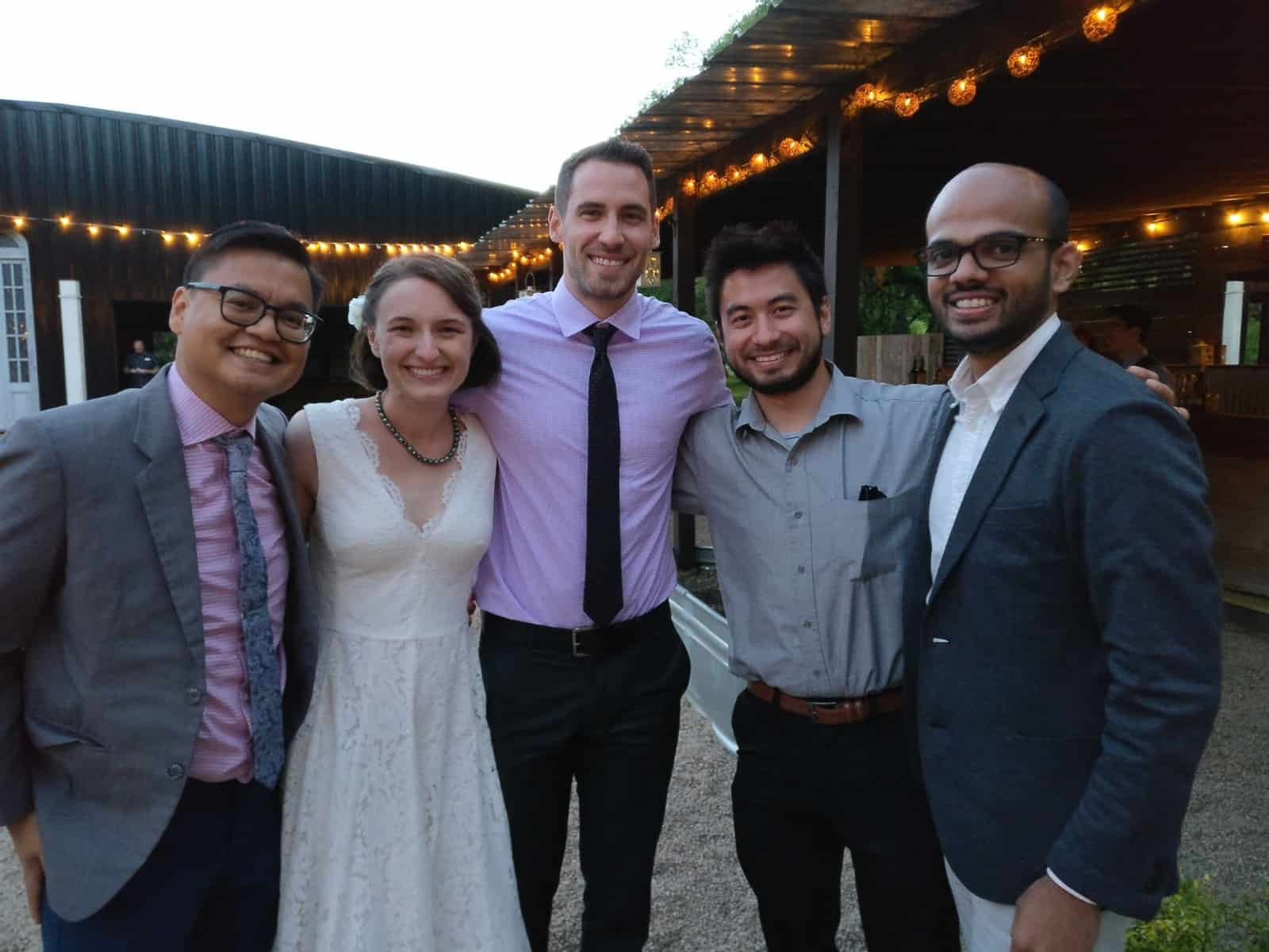 Produktworks team at Annie's wedding reception