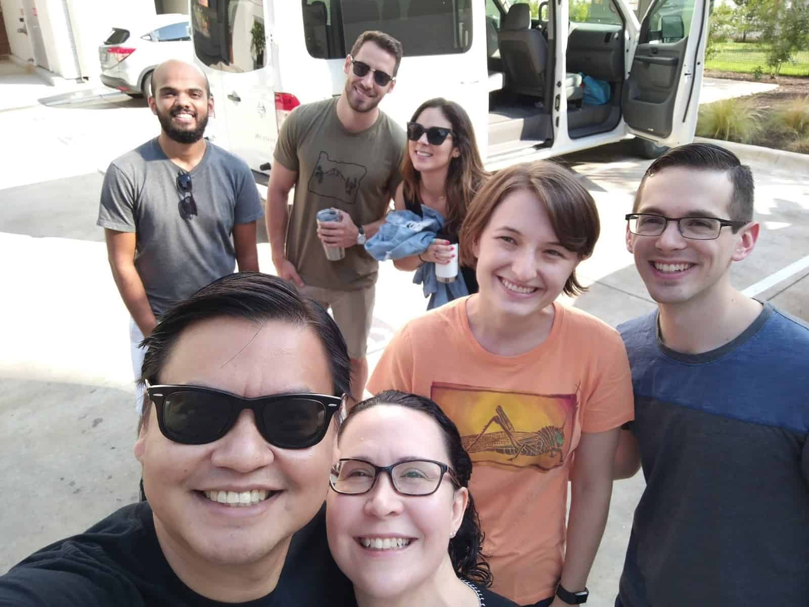 PRoduktworks team before leaving for Marfa