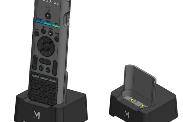 CAD model of Modulus Media Systems remote