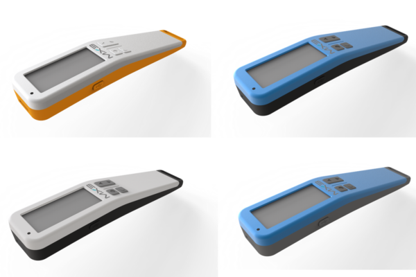 Renderings of the MX3 Hydration Testing device in different colors