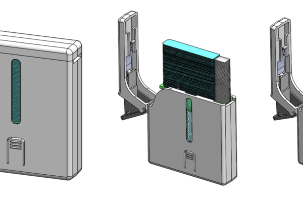 CAD model of MX3 Hydration Testing dispenser