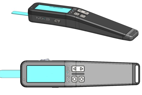CAD model of MX3 Hydration Testing device