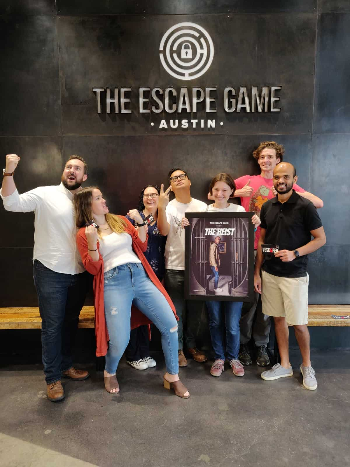 Produktworks team at an escape room game